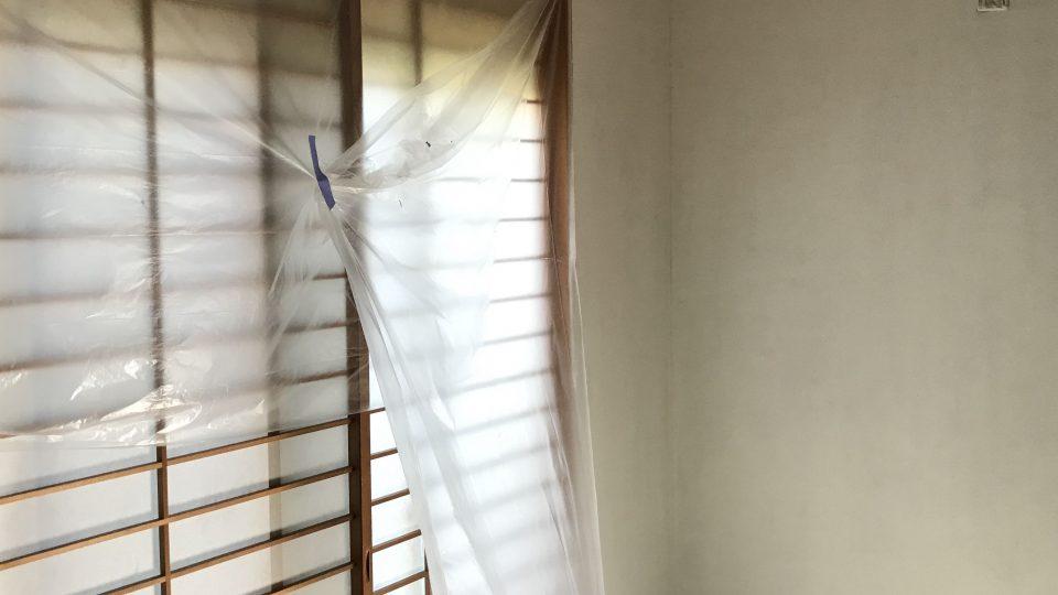 和室をDIYペイント