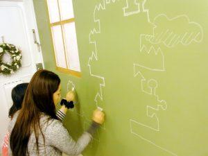 黒板塗料サイケスグリーン